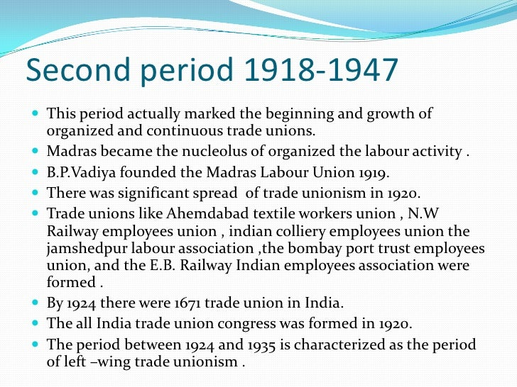 TRADE UNION ACT 1926 GENESIS OF THE ACT Buckinghan mill case of 1920 In march 1921 SRI N.M. JOSHI then Gen. sec. of  AI...
