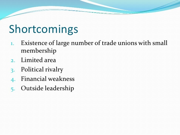 Measure to strengthen trade unions 1.   There should be no distinction between private sec.      and public sec. 2.   Code...