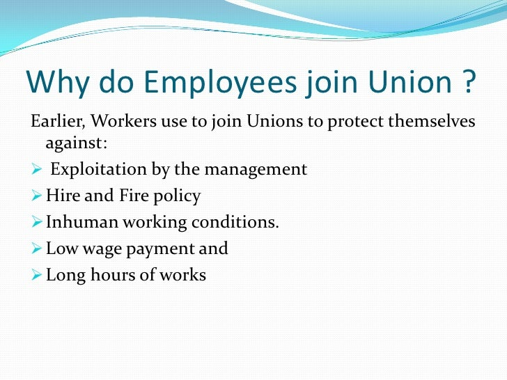 .In present situation there are three reason account for  unionization in any plant1) Dissatisfaction2) Lack of power3) Un...