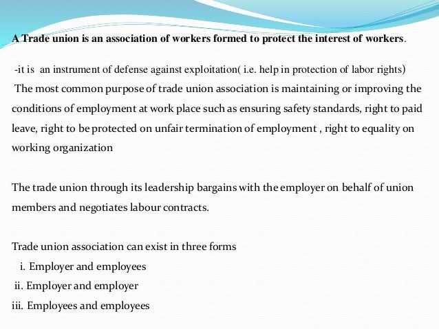 problems facing trade unions in kenya The dynamics and trends of employment in kenya institute of economic affairs - kenya  trade, use of work permits  (trade unions) in 1964,.