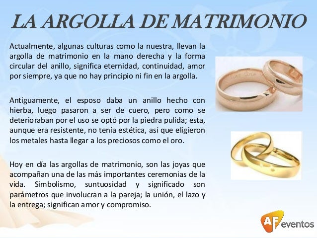 Tradici n y costumbres del matrimonio con af eventos - Anillo de casado mano ...