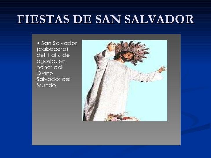 FIESTAS DE SAN SALVADOR