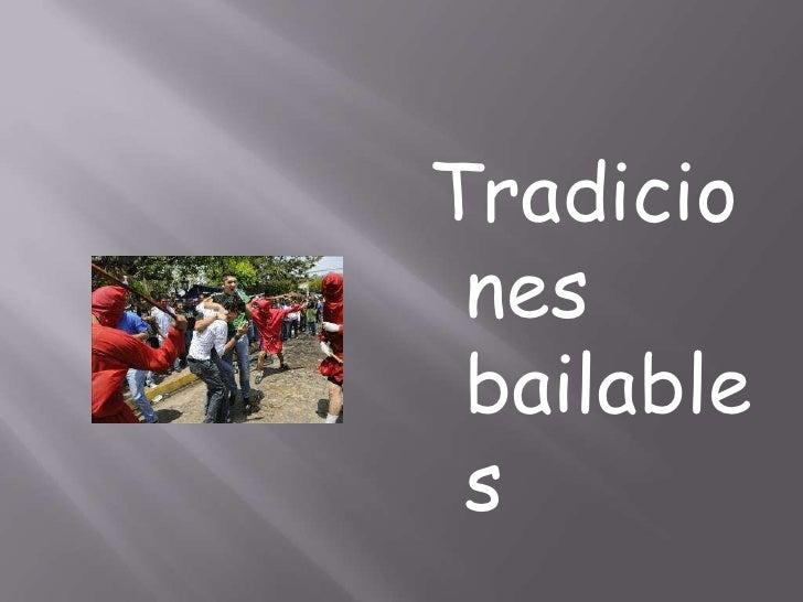 Tradiciones bailables<br />