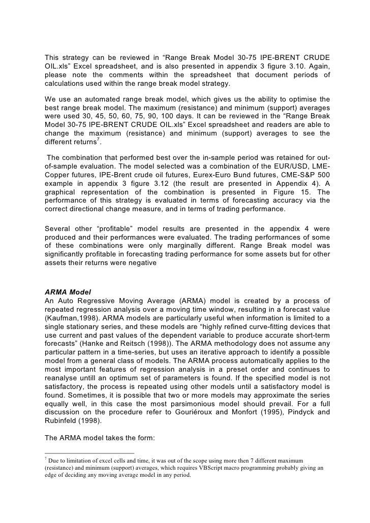 Dissertation msc finance
