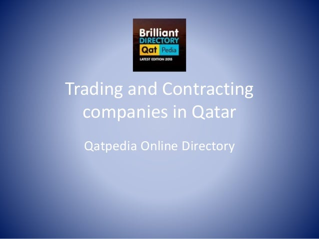 Trading and Contracting Companies in Qatar