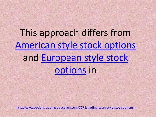 Stock options european style