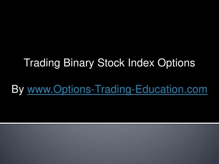 Stock options trading room