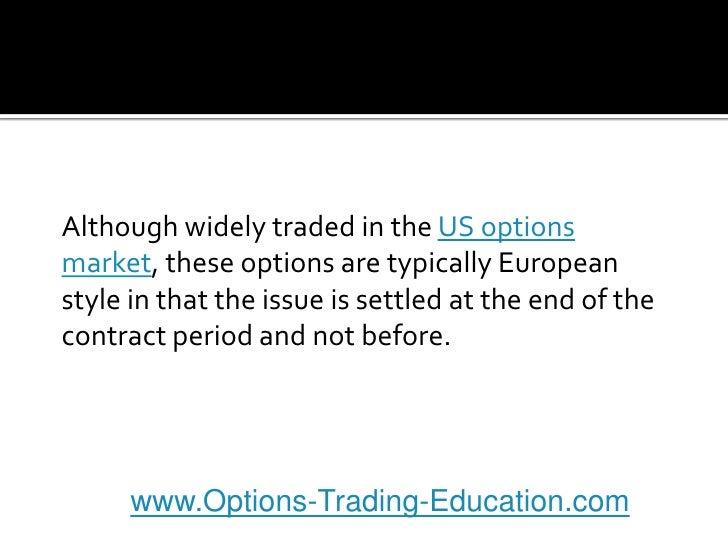 Cds index option trading