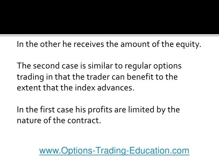 Options on stock index