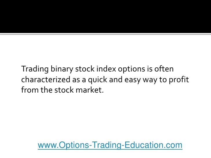 Index options trading blog