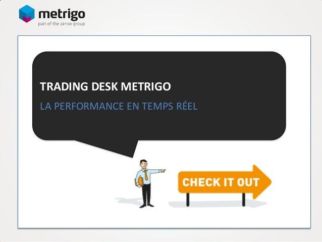 TRADING DESK METRIGO LA PERFORMANCE EN TEMPS RÉEL