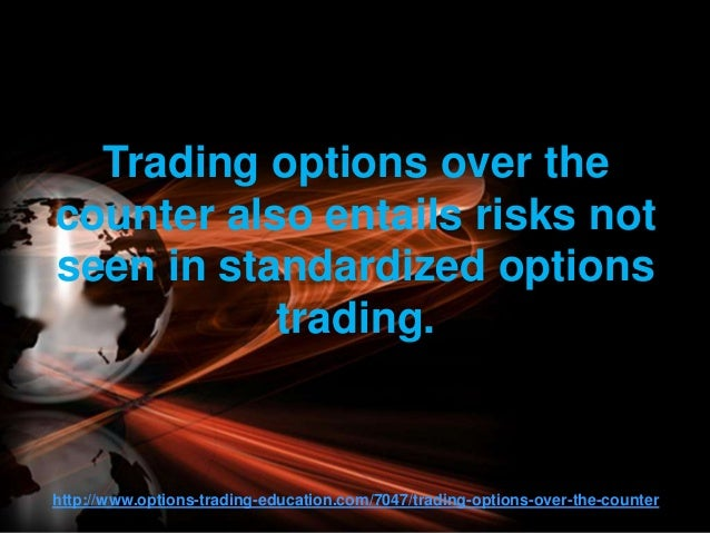 Over the counter options trading