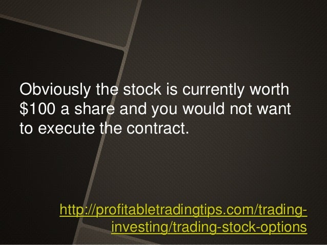 Shares options trading