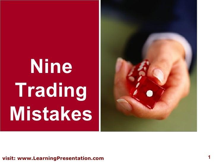 Nine Trading Mistakes