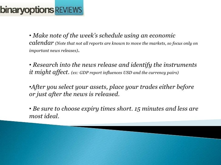 Economic news binary options