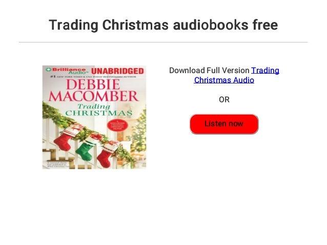 trading christmas audiobooks - Debbie Macomber Trading Christmas