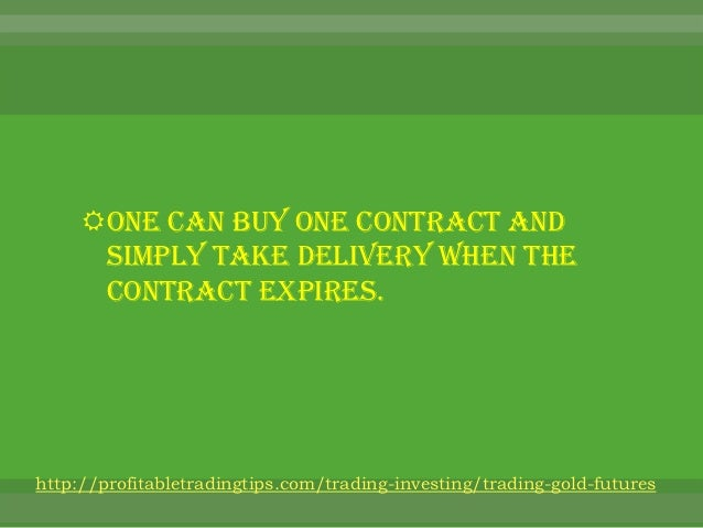 Trading gold options online