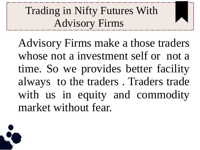 Futures and options trading firms