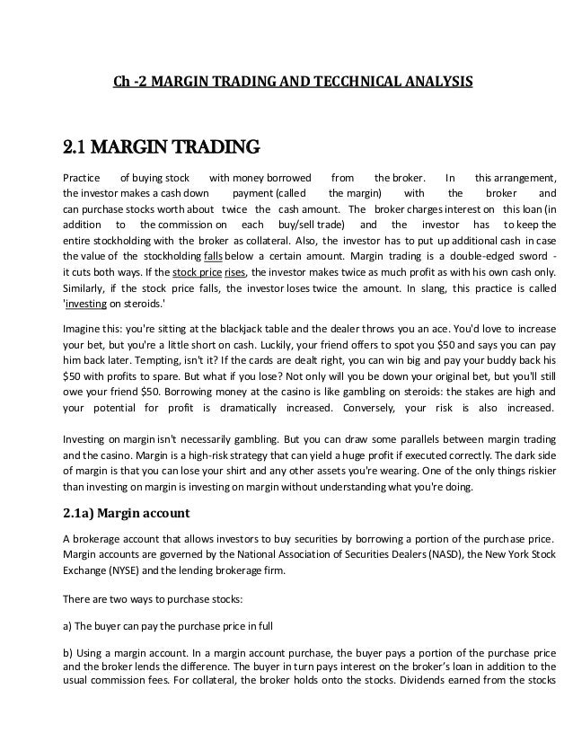 Margin trading definition and mechanism