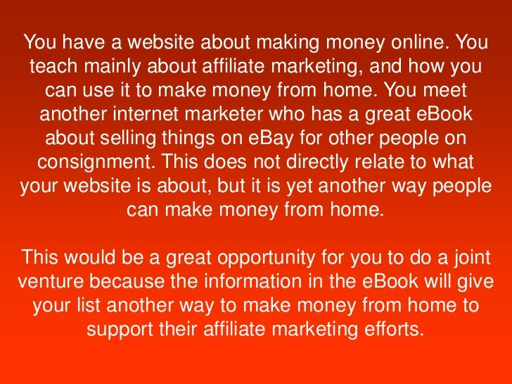 here is an example 5 you have a website about making money online