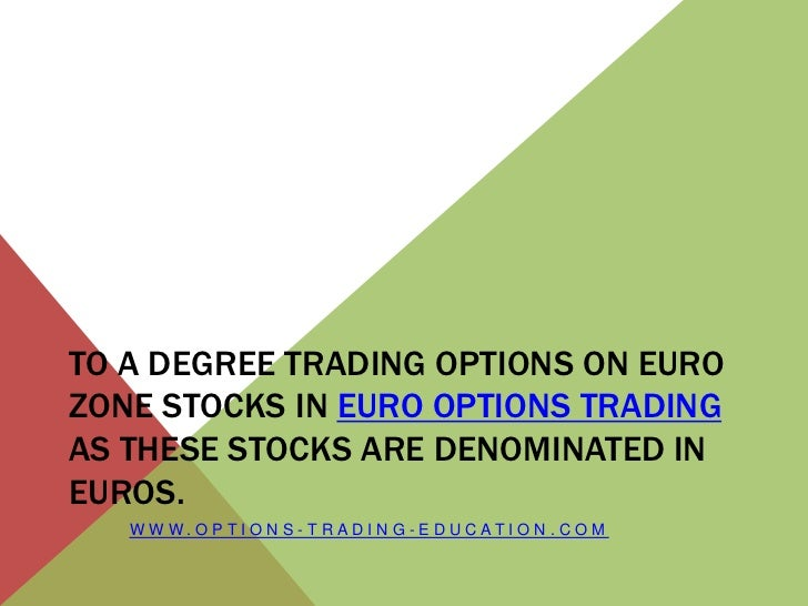 Euro stock options