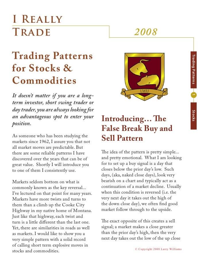 I Really                                                                  2008 Trade  Trading Patterns                    ...