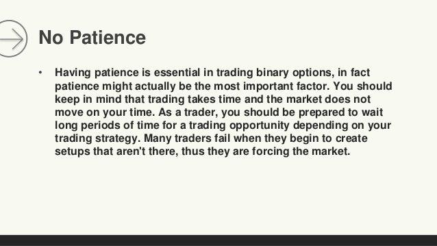Option trading psychology