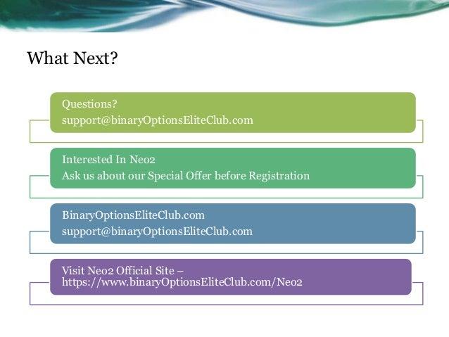 Binary options elite club