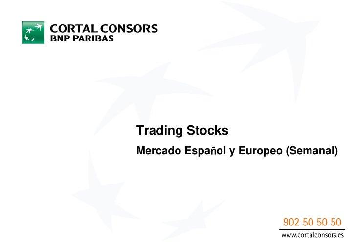 Trading StocksMercado Espa ol y Europeo (Semanal)