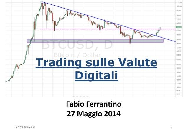 Trading sulle Valute Digitali Fabio Ferrantino 27 Maggio 2014 27 Maggio 2014 1