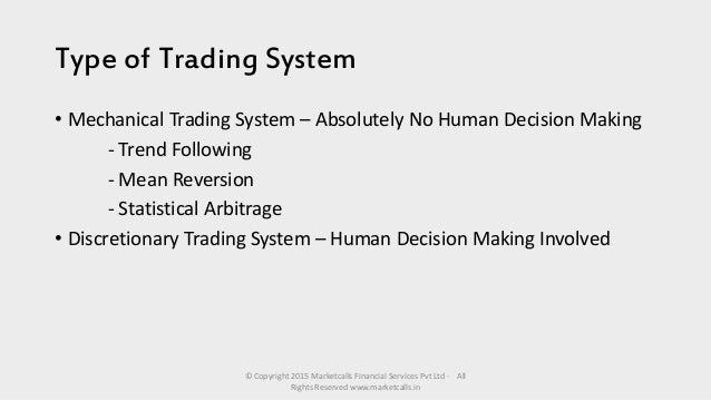 Trading system la nuova frontiera