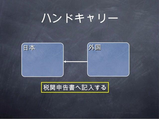 ハンドキャリー日本日本 外国外国税関申告書へ記入する