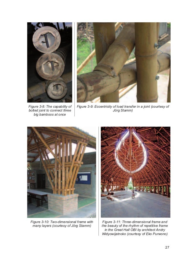 Traditional And Innovative Joints In Bamboo Construction