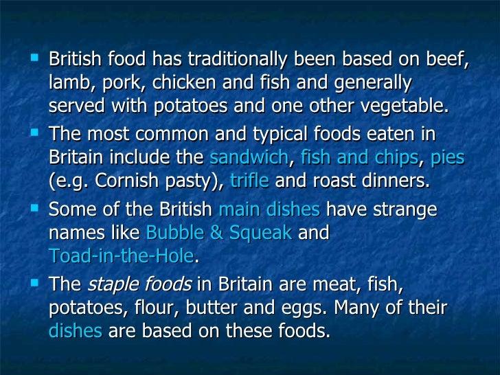 NI1 - Traditional British Food Slide 2
