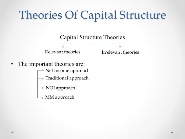 different theories of capital structure