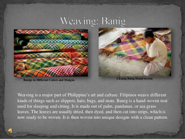 Traditional arts of philippines final