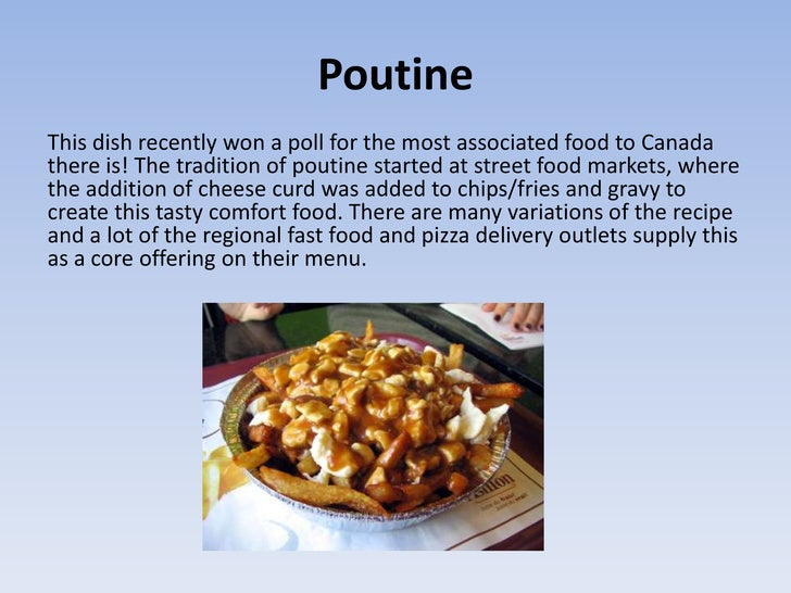 Traditional Canadian Food - Canadian traditions