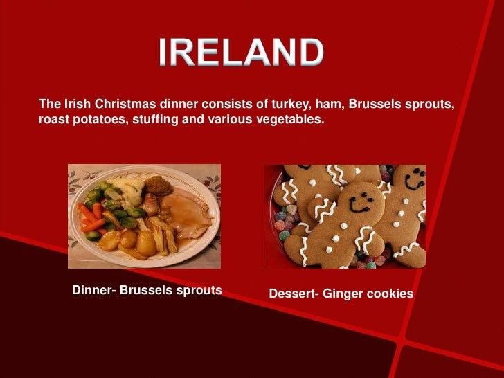 Traditional Irish Christmas Dinner.Traditional Christmas Food