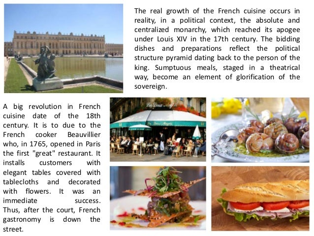 Traditional european foods for 18th century french cuisine