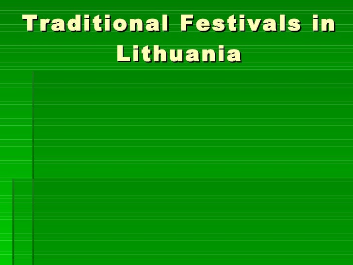 Traditional Festivals in Lithuania