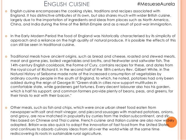 """""""Traditional Food in england."""" Slide 2"""