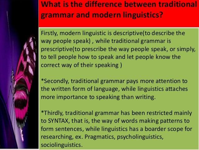 Prescriptive and descriptive linguistics