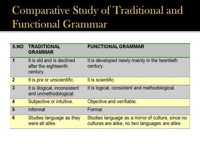 traditional grammar and structural grammar