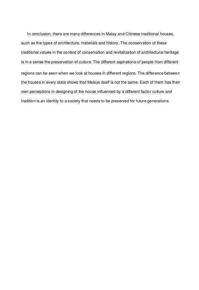 traditional house essay 4