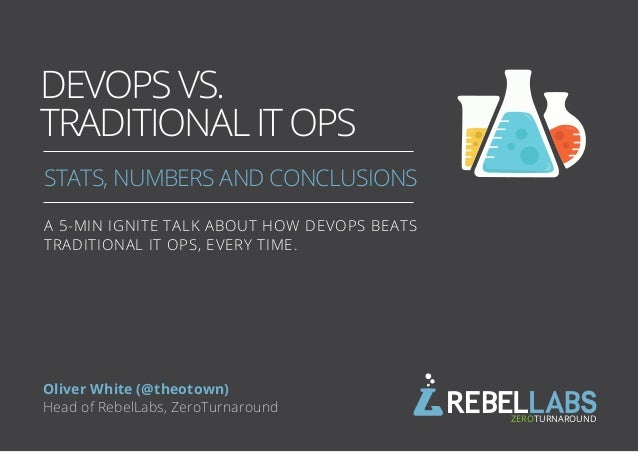 DEVOPS VS. TRADITIONAL IT OPS STATS, NUMBERS AND CONCLUSIONS BY ZEROTURNAROUND Oliver White (@theotown) Head of RebelLabs,...