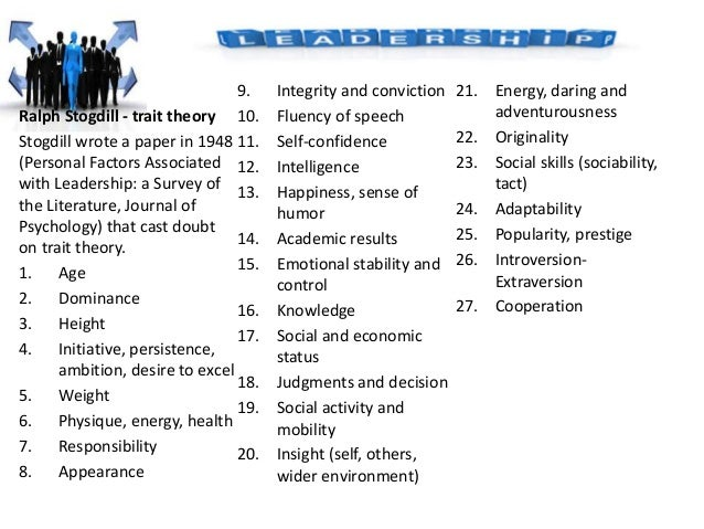 understanding leadership as a theory An overview of the main leadership theories, models and principles my approach to leadership theory is to give you some pointers on this page.