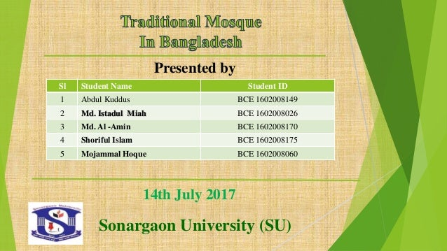 Traditional mosque in bangladesh presentation