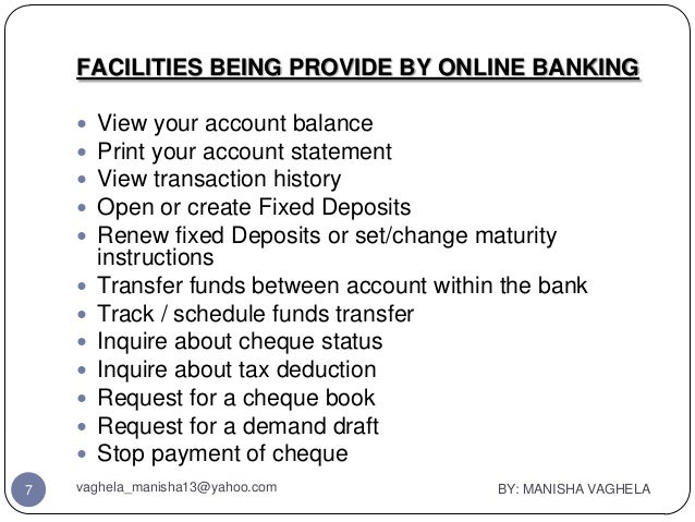 Four Different Types of Services   Banking