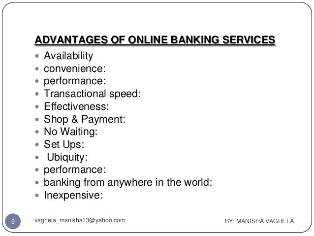 Pros and cons of online banks