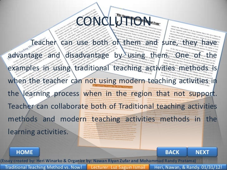 Traditional and Modern Instructional Materials